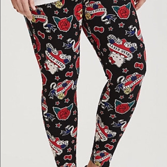 7f8eab8f8b775 torrid Pants | Hello Kitty Tattoo Leggings Full Length | Poshmark